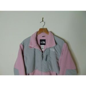 The North Face Jackets & Coats - North Face M Denali Fleece Jacket Gray Pink Zip